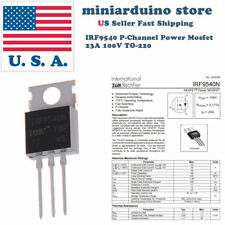 10pcs Irf9540 Irf9540n P Channel Power Mosfet 23a 100v To 220 Ir Transistor