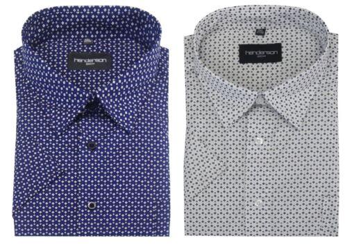 Talla 2XL-6XL,2 opciones Henderson de Algodón Rico camisas con estampado floral de ocio ss 3752