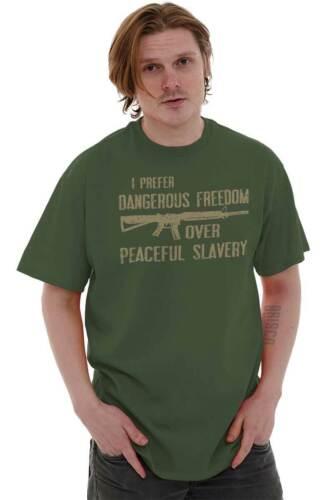 I Prefer Dangerous Freedom Over Peaceful Slavery Bear Arms Classic T Shirt Tee