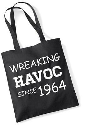 56th Birthday Gifts Presents Year 1964 Unisex Ringer T-Shirt Wreaking Havoc