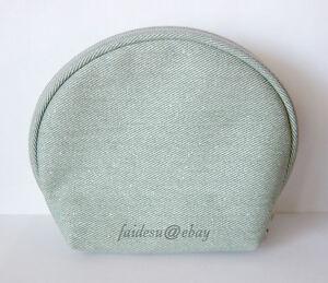 La-Mer-Cosmetic-Skincare-Makeup-Travel-Bag-Sparkly-Color-GREEN-NIB