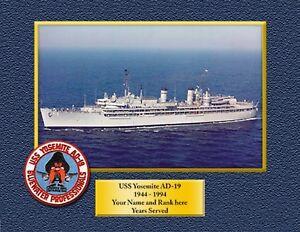 USS YOSEMITE AD19 Custom Personalized Print of US Navy Gift Idea