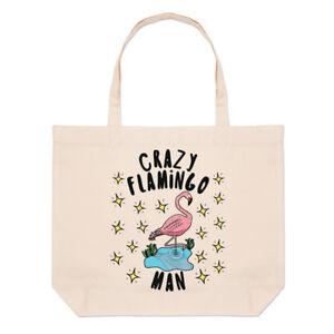 Homme Grand Fou Animal Drôle Sac tout Plage Étoiles Flamingo Rose Fourre 5PPwxS