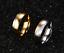 Coppia-Fedi-Fede-Fedine-Anello-Anelli-Fidanzamento-Nuziali-Cristallo-Oro-Acciaio miniatura 3