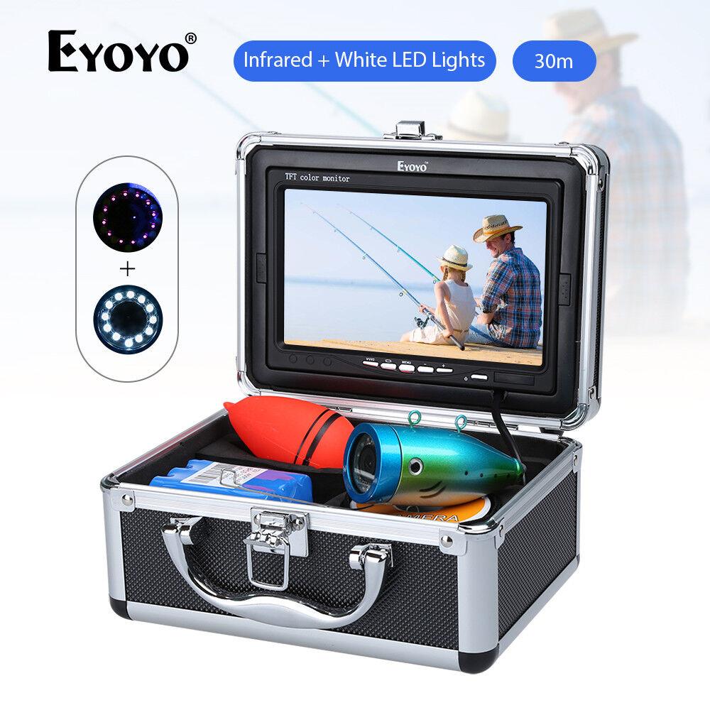 Eyoyo 30m 7  infrarrojos blanco luces LED bajo el agua peces-buscador de peces cámara nuevo