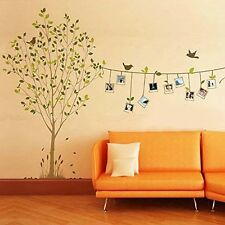 Large Tree Bird Wall Decal Sticker Large Vinyl Photo Picture Frame Mural Décor