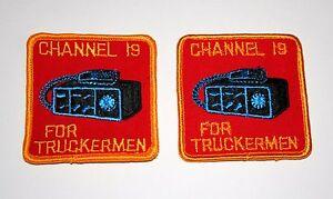 Vintage Trucker Trucking CHANNEL 19 IS FOR TRUCKERMEN CB Radio Patch 97MP