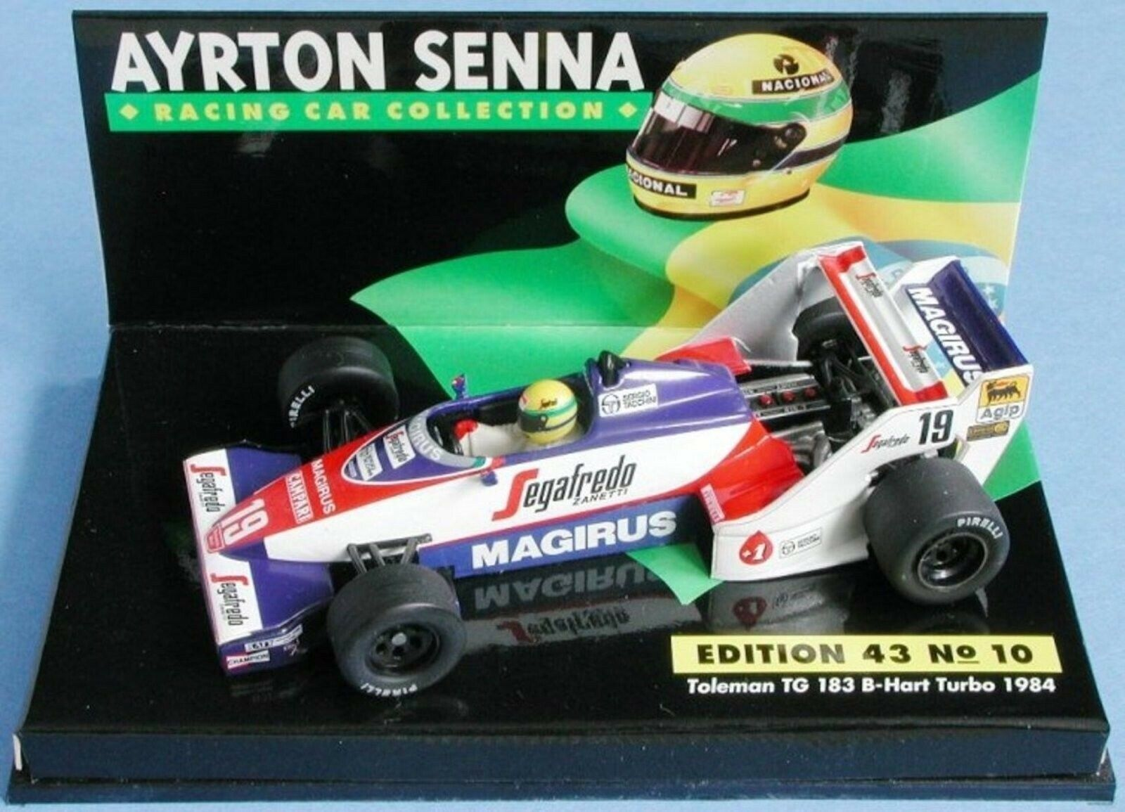 WOW EXTREMELY RARE Toleman TG183B Senna South Africa 1984 ASC10 1 43 Minichamps