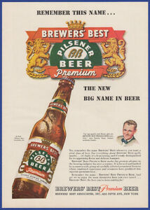 Vintage 1947 Brauereien der besten Veltins Bier Alkohol Ephemera Jahre durchzuführen Printanzeige