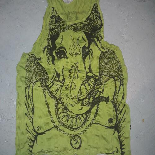 Yoga Hommes Haut Chemise sans manches Chakra Méditation hindou Ganesha M coton om NEUF