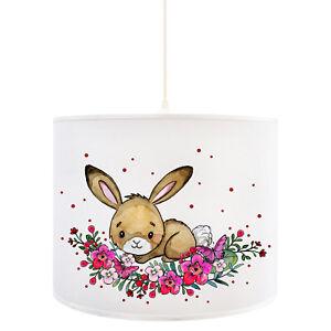 eckenlampe-Hase-Deckenleuchte-Haeschen-mit-Blumen-Punkte-Kinderlampe-D88