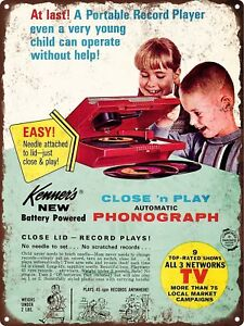 Image Is Loading 1960s Kenners Close And Play Phonograph Record Player