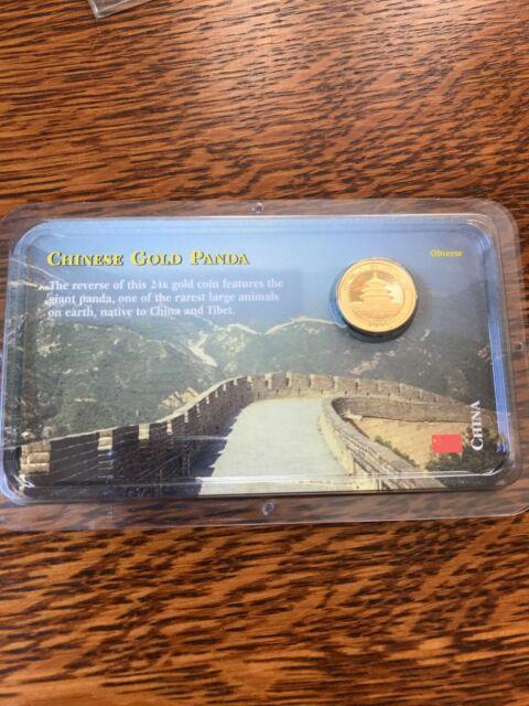 2000 Chinese Gold Panda, Uncirculated, in Littleton Showpak