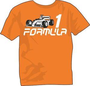 Bambino: abbigliamento T-shirt e maglie Bambino solo per ragazzi veloce T-Shirt Kids Formula One 1 F1 NUOVO