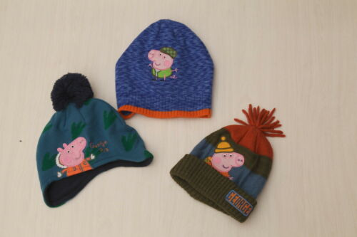 2-4-6 years Size 1-3 NEW Kids Boy Peppa Pig Winter Hat