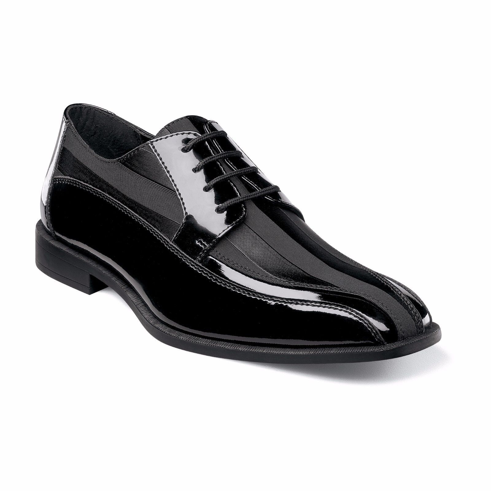 incredibili sconti Stacy Stacy Stacy Adams Uomo nero Royalty Faux Leather Glossy Formal Dress Trending Shoe  consegna gratuita
