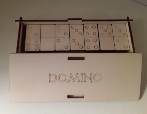 Dominosteine Dominospiel  Gesellschaftsspiel Box Holz neu made in Germany
