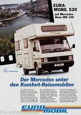 Prospekt Eura Mobil 520 Mercedes MB 100 Reisemobil 1994 Wohnmobil brochure