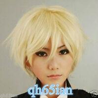 Butler Alois Trancy Straight Short Blonde Cosplay Anime Wig + Free Hairnet