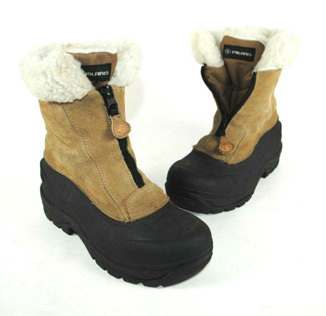 POLARIS THERMOLITE Womens Sz 7 SUEDE Zip Ankle Boots Thermolite Snow Rain