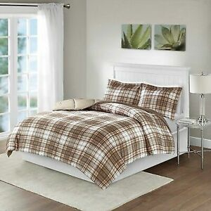 Blue /& Green Traditional Plaid Reversible Comforter AND Decorative Shams