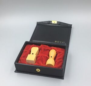 Details about Japanese name seal 2stamps set/HANKO KANJI with case