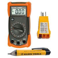 Klein Tools Electrical Test Digital Multimeter Voltage Tester Tools 3 Piece Kit