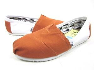 TOMS-WOMEN-039-S-CLASSIC-SLIP-ON-UNIVERSITY-OF-TEXAS-AUSTIN-CANVAS-SHOES-MEDIUM-NEW