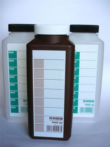 Kaiser Set di 3 fotografica accumulo chimico BOTTIGLIA 1 Ltr TRE BOTTIGLIE 1000cc