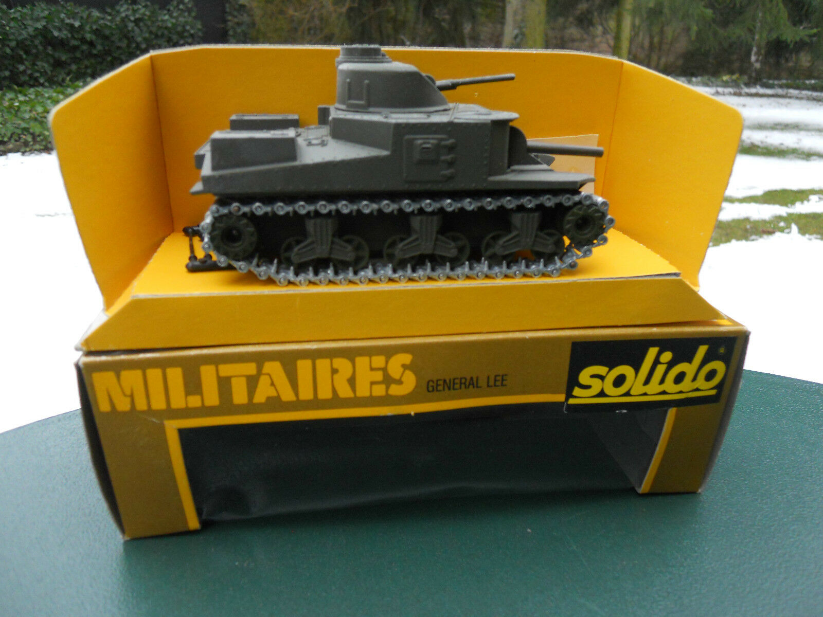 SOLIDO MILITARY REF 253 CHAR GENERAL LEE KHAKI NO. 670 MINT IN BOX