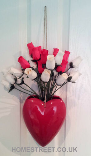 Artificial Roses Bouquet Vibrant Wooden Rose Bud Display Perfect Floral Gift