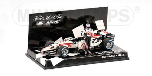 MINICHAMPS 060112 HONDA F1 model JENSON BUTTON 1st win GP Hungary 2006 1 43rd