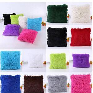 Peluche-Housse-Coussin-Carre-Taie-d-039-oreiller-Canape-Maison-Decor-Cushion-Cover