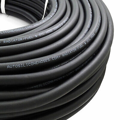 AutoSiliconeHoses 13mm ID Black 20 Metre Length Rubber Air Line Hose