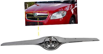 Kühlergrill Motorhaube Leiste Chrom für Skoda Fabia 5J Roomster 2010 Neu