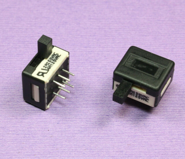 Slide switch APEM,25336 NA SPDT pulsante laterale