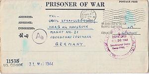 1944 Camp Polk LA German POW Camp Letter Sheet Cover to GErmany Prisoner of War