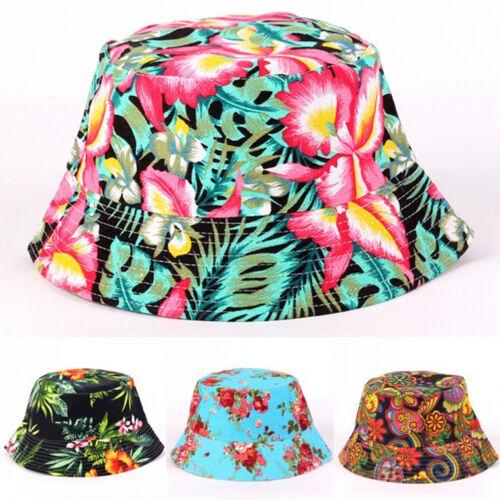 New Unisex Men Women Boonie Hunting Fishing Outdoor Cap Floral Bucket Sun Hat TB
