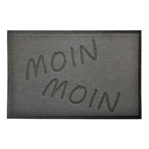 Schmutzfangmatte MOIN MOIN grau 40x60cm Fußabtreter Sauberlaufmatte Vorleger