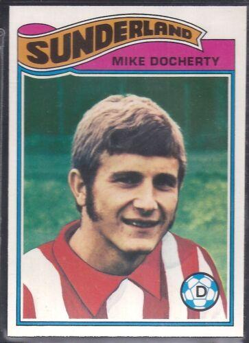 ORANGE BACK 1978 MIKE DOCHERTY -#112- SUNDERLAND TOPPS-FOOTBALL
