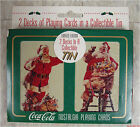 Holiday Coca-Cola Santa Nostalgia Playing Cards, 2 decks in tin, new