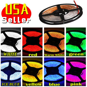 Multi-Color-5M-16-4ft-Waterproof-3528-SMD-300-LED-Flexible-Light-Strip-Decor-12V