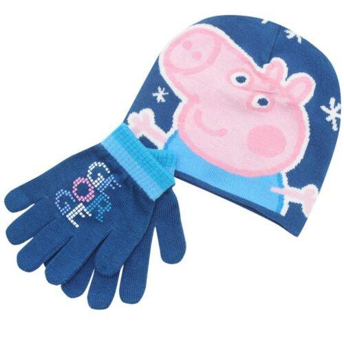 Peppa//George PIG:2015 Winter Set 1-6YR environ Chapeau neuf avec étiquettes gants
