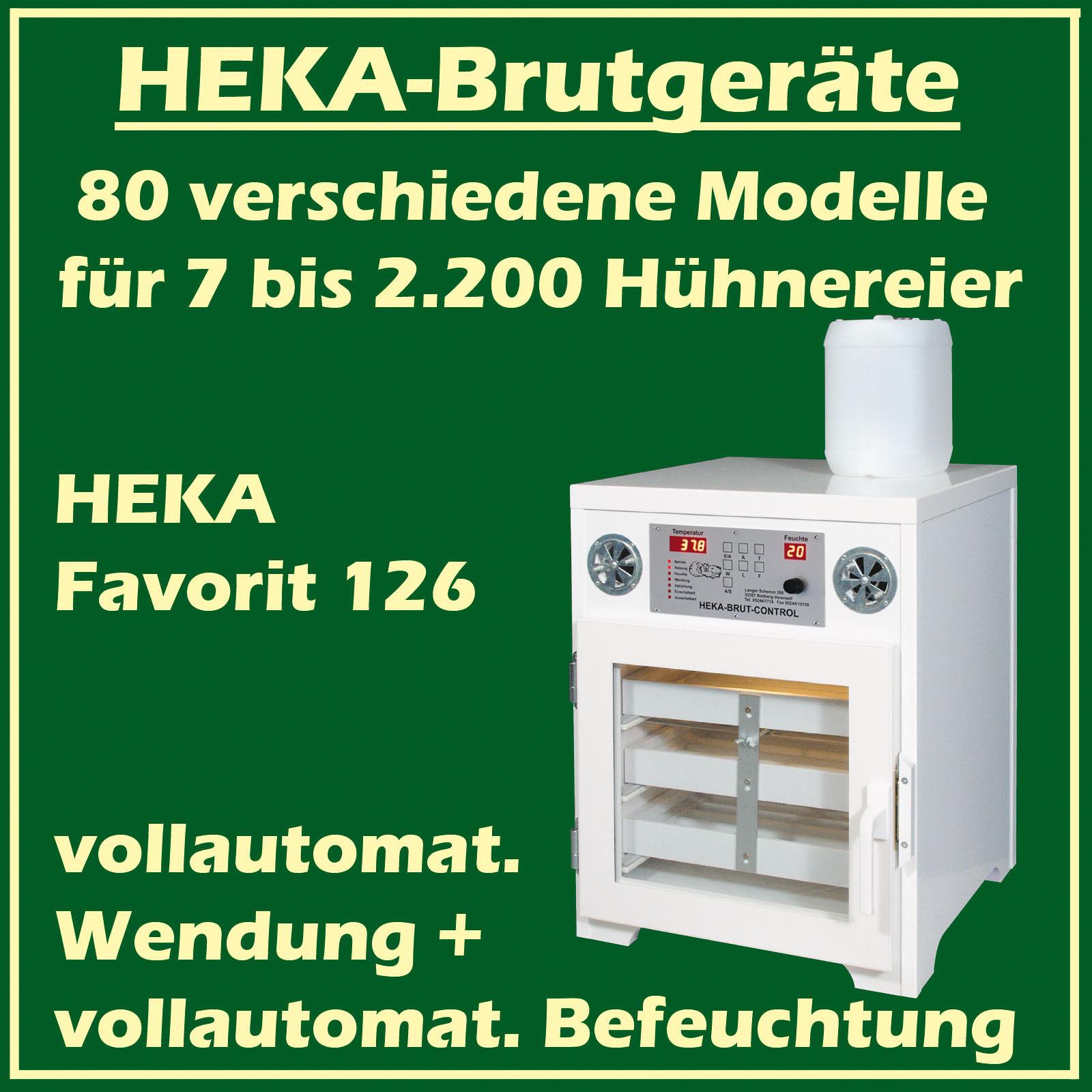 Heka Favorit 126 - Incubatrice con Automatica Automatica Automatica Umidificazione, per 144 Uova 84614e