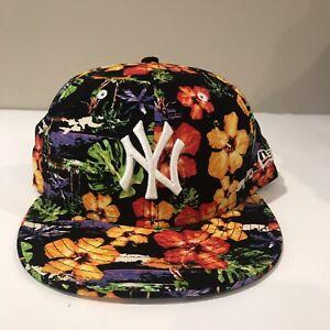 Rare New York Yankees Floral Hat   New Era 9Fifty OSFA   SnapBack MLB Baseball