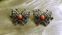 Butterfly Nipple Ring Pair Jewelry Pink Bead Stainless Steel Shield Piercing