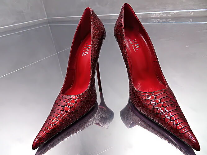 1969 Unique Farbe Real Sexy Leder MADE IN ITALY Sexy Real High Heels Pumps Z39 Leder 41 0d9449