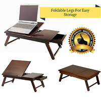 Laptop Table Desk Portable Stand Notebook Computer Foldable Riser Bed Stand Work