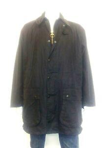 Barbour BORDER Navy 100% Wax Cotton Jacket Fishing ...