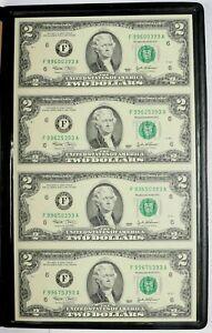 UNCUT-SHEET-OF-4-2-TWO-U-S-DOLLAR-BILLS-REAL-MONEY
